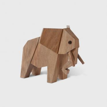 Elephant en bois, collection MUZO