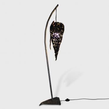 Lampadaire sculpture flamme
