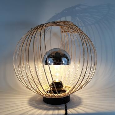Lamp Orbite White wicker