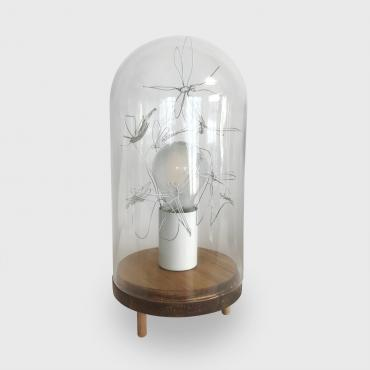 Table lamp cloche verre Bug me 1