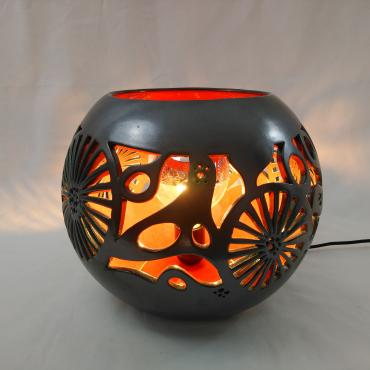 Spherical lamp fleur marine orange, ø 34