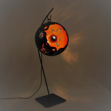 Lamp sphère ECLOSION SUSPENDUE orange ø 28