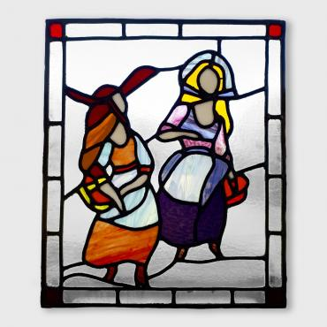 Stained-glass window Conversation féminine