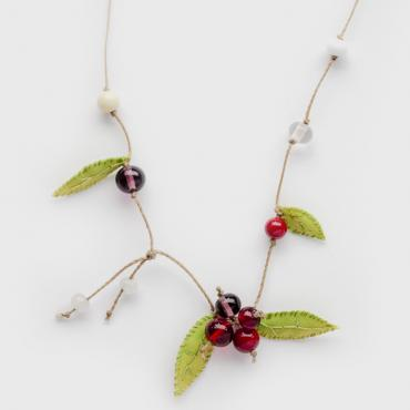 Necklace red Berries