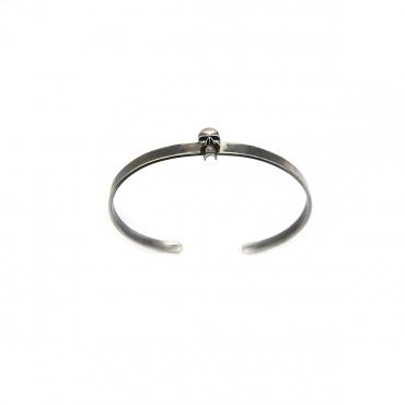 Bangle in silver tête de mort PM