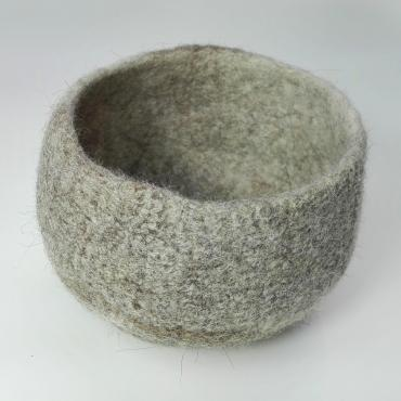 Pot in felt Beige/brown S