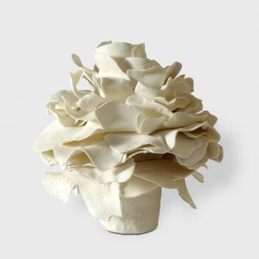 Sculpture Flower in porcelain