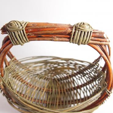Mini round basket Zarzo in raw wicker