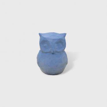 Mini decorative owl in bleu concrete