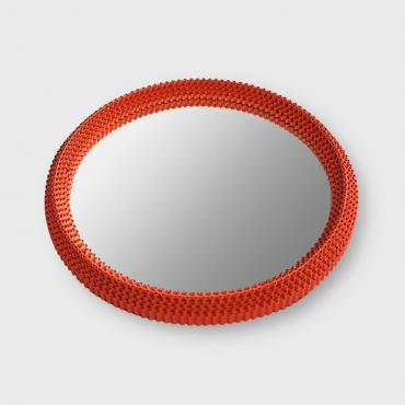 Miroir Rond Orange
