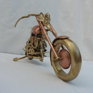 Sculpture Moto Re-cyclage n°1