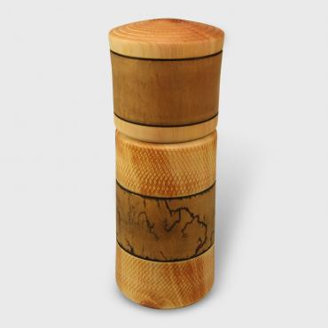 Salt and pepper mill pin cembro