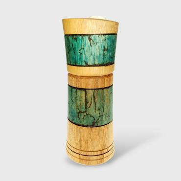 Salt/pepper mill noyer et howlite