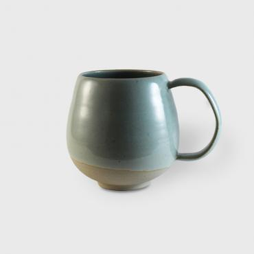 Mug GM celadon and raw clay