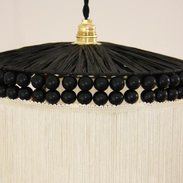 "Ceiling light Parasol ""Noir d'Ivoire"""