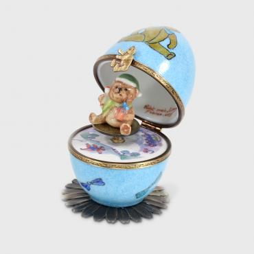 Music box ourson bleu