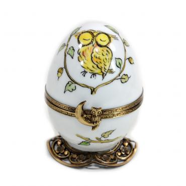Music box white owl