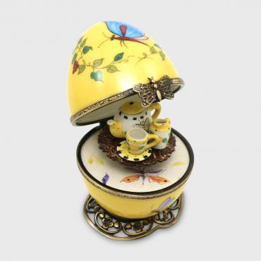 Music box papillon jaune