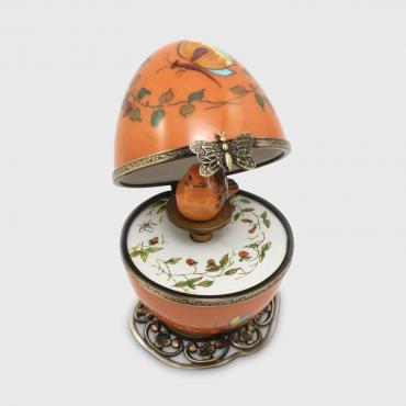 Music box papillon orange