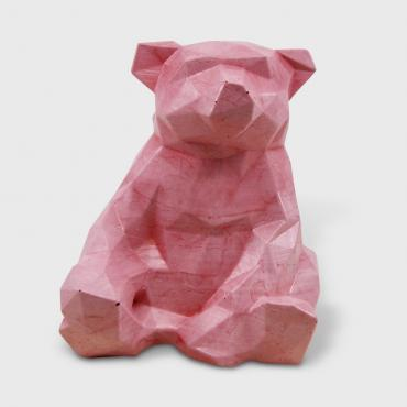 Decorative Bear in pink concrete