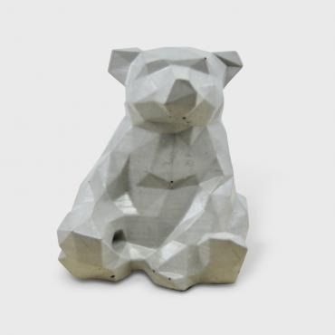 Decorative Bear in grey concrete