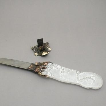Letter opener white dragon