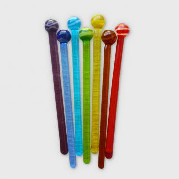 Coffee stirrers round end