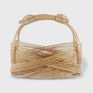 Basket Zarzo rectangular narrow in wicker