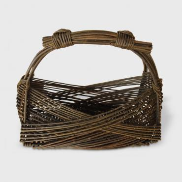Basket Zarzo rectangular narrow in raw wicker