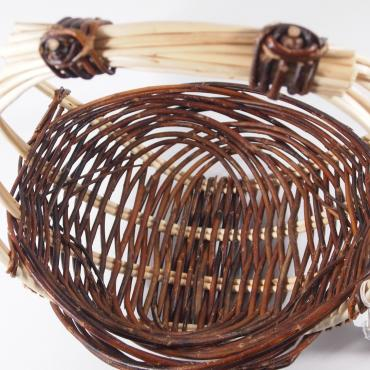 Basket zarzo round medium in raw wicker