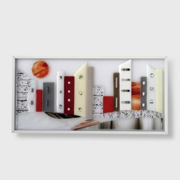Rectangular wall light motif City