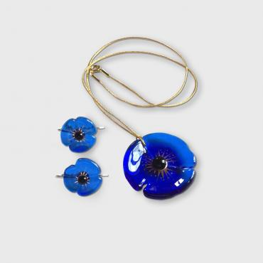 Set of jewels COQUELICOT royal blue