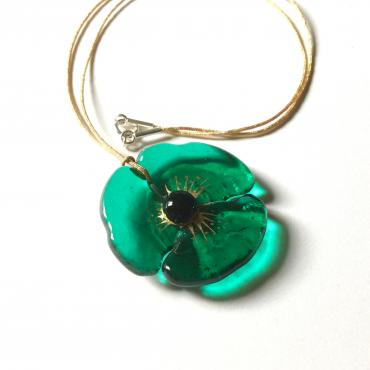 Set of jewels COQUELICOT emerald