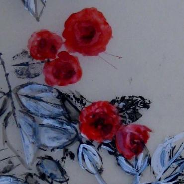 Painting Les Roses Rouges