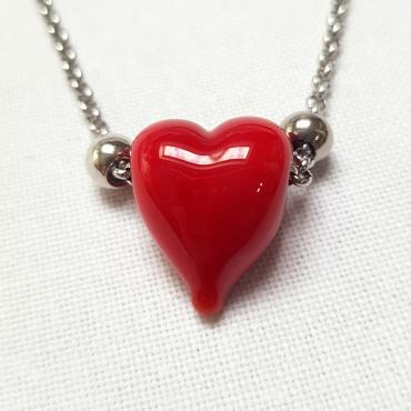 Collier Coeur Rouge Passion