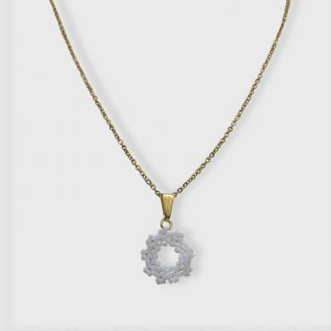 Necklace Capucine blanc