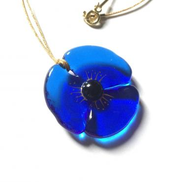 Pendant COQUELICOT royal blue