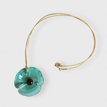 Pendant COQUELICOT greenish blue