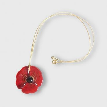 Pendant COQUELICOT bright red
