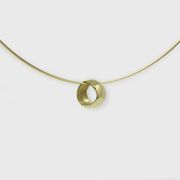 Pendant Eclipse in yellow gold