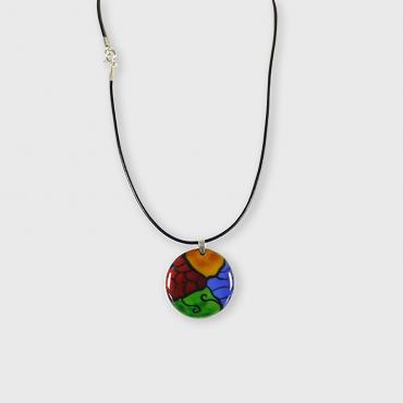 Pendant in enamel on copper Graphique RVJB
