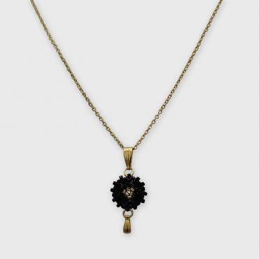 Necklace Lilou Noir et or