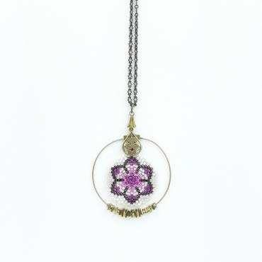 Pendentif Collection Lotus rose