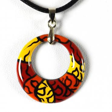 Pendant in enamel on copper Pop Art