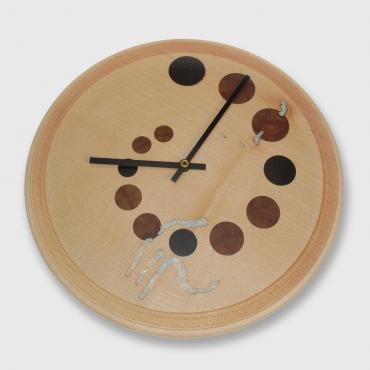 Maple wood mural clock