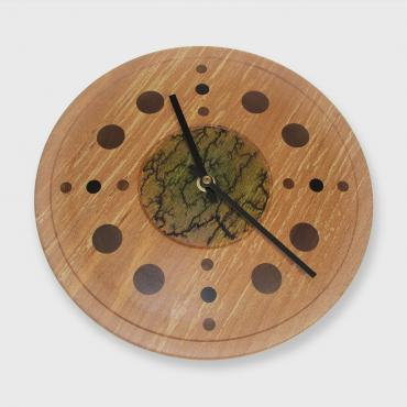 Beech wood mural clock