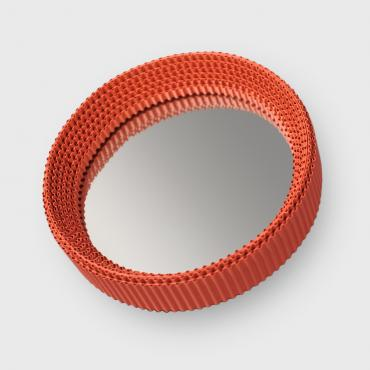 Small Round Orange Mirror
