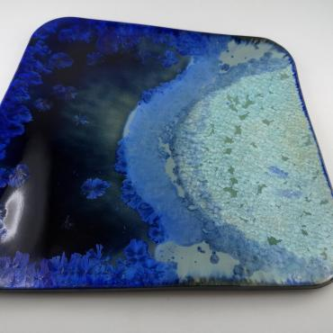Small green blue tray