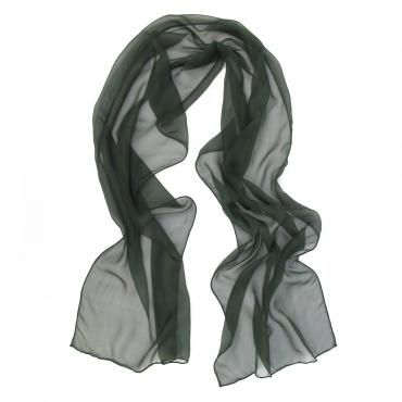 Small scarf rectangle unie vert gris