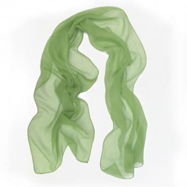 Small scarf rectangle unie vert tendre